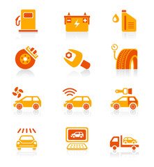 Car service icons | JUICY series