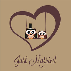 Just married owls
