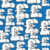 seamless pattern pound sterling symbol