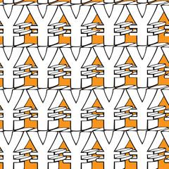 seamless pattern yen symbol