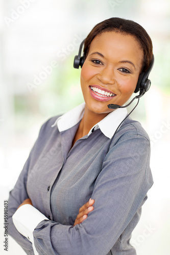 afro american business call center operator