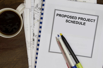 Proposed project schedule