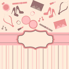 fashion card  background