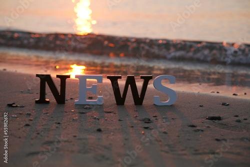 Leinwandbild Motiv Strandnews