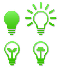 lightbulb icon green sticker