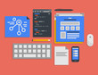Programming and web development process illustration