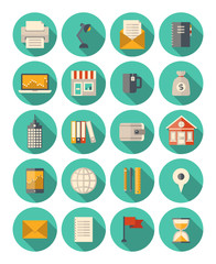 Business and finance modern icons set