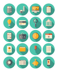 Finance and business modern icons set
