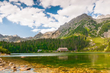 Beautiful Lake in High Tatra of Slovakia