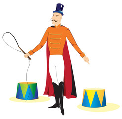 Circus Ringmaster illustration isolated on white
