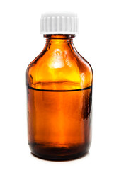 Amber dropper  bottle with oil, medicine or other beneficial liq