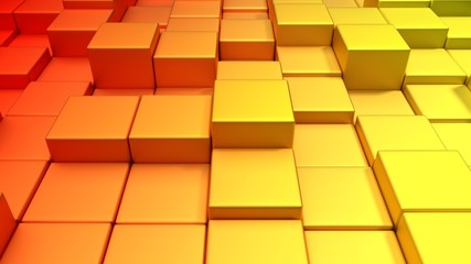 Metallische Würfel warme Farben