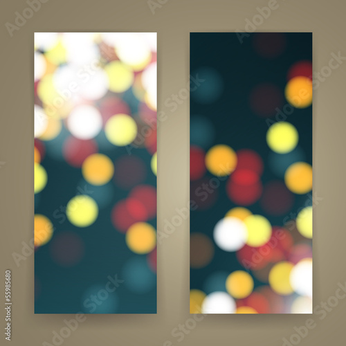 Vector Illustration of Abstract Bright Banners