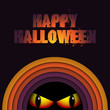 Halloween Ghost Circle Stripe Background