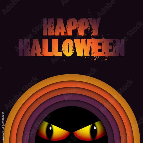 Halloween Ghost Circle Stripe Background
