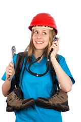 Woman with several professions