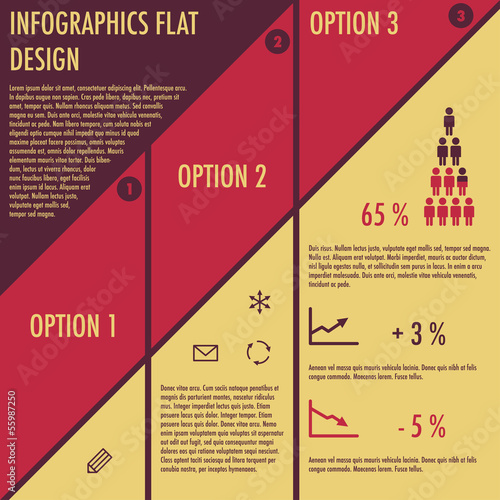 Infographics with flat design