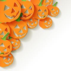 Halloween Pumpkin Origami Papier Bunt Ecke
