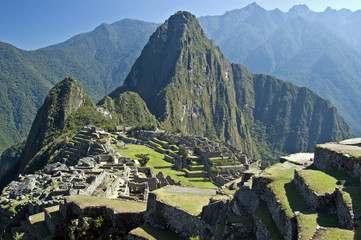 Machu Picchu, a pre-Columbian Inca site  in Peru