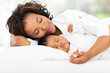 african mother and baby sleeping