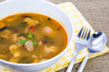 Spicy pork soup