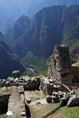 Machu Picchu is a pre-Columbian Inca site in Peru