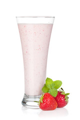 Strawberry milk smoothie cocktail