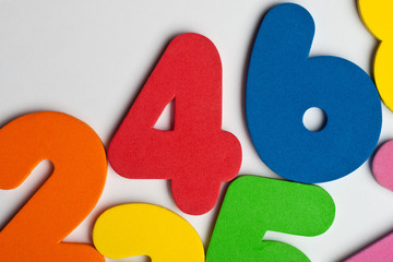 The number 4 in a group of ascending numbers
