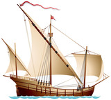 Caravel, a sailing ship