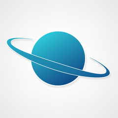 planet blue icon