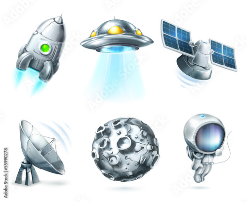Space, icon set
