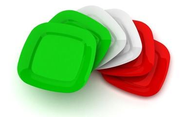 Piatti - Cucina - Ricette - Cuoco - Tricolore italiano