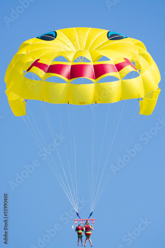 Parasailing in the sky