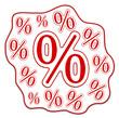 Prozent Rabatt Sale rot  #130906-svg05
