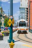 Light Rail Train in Denver Downtown