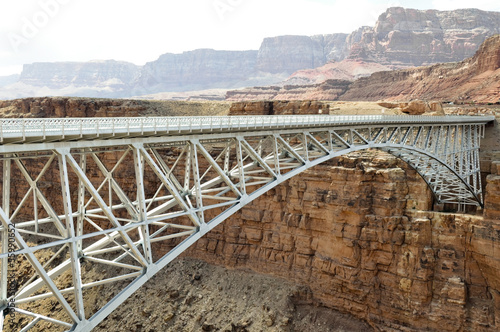 Navajo Bridge - Steel Arch Bridge over Colorado River, Arizona