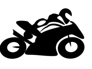 Motorrad Rennen Tribal BW