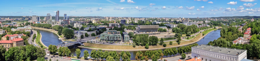 panorama - view of the city of Vilnius from the tower of Gedimin