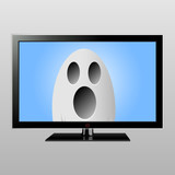 Ghost on TV screen