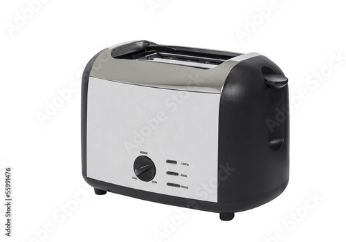 Typical Chrome Toaster Isolated