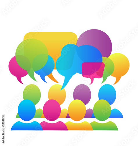 Social media network speech bubbles business logo