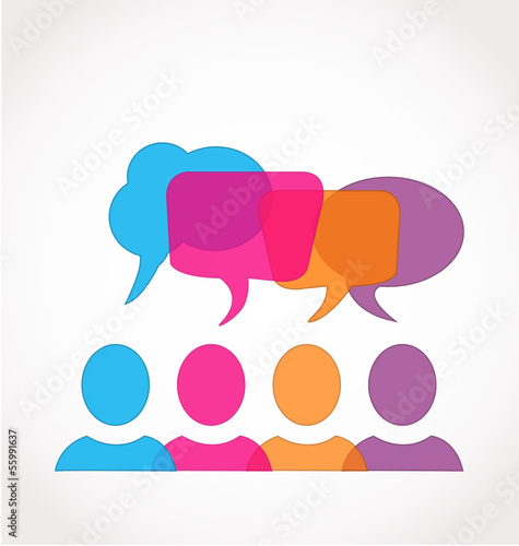 Business social media network speech bubbles logo