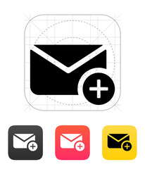 Add mail icon. Vector illustration.