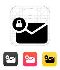 Secure mail icon. Vector illustration.
