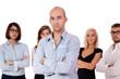 junges erfolgreiches business team gruppe isoliert