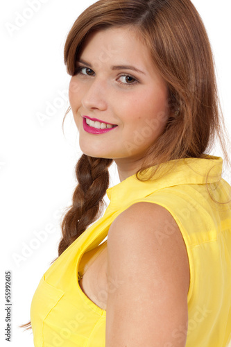 Gelbes kleid lippenstift