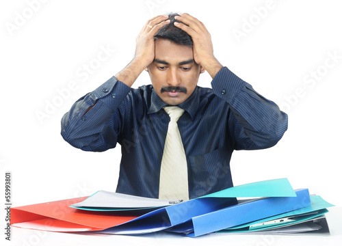 Depressed Indian Young Businessman
