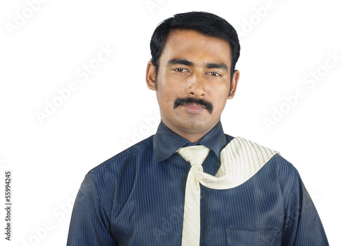Indian Young Man Posing to Camera