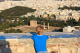 Little boy looking at Athens