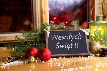 Święteczna tabliczka z życzeniami